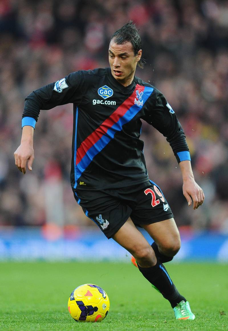 LONDON, ENGLAND - FEBRUARY 02:  Marouane Chamakh of Crystal Palace during the Barclays Premier League match between Arsenal and Crystal Palace at Emirates Stadium on February 2, 2014 in London, England.  (Photo by Mike Hewitt/Getty Images)