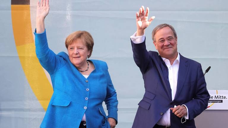 An image that illustrates this article Germany's Laschet hopes for Merkel-inspired comeback