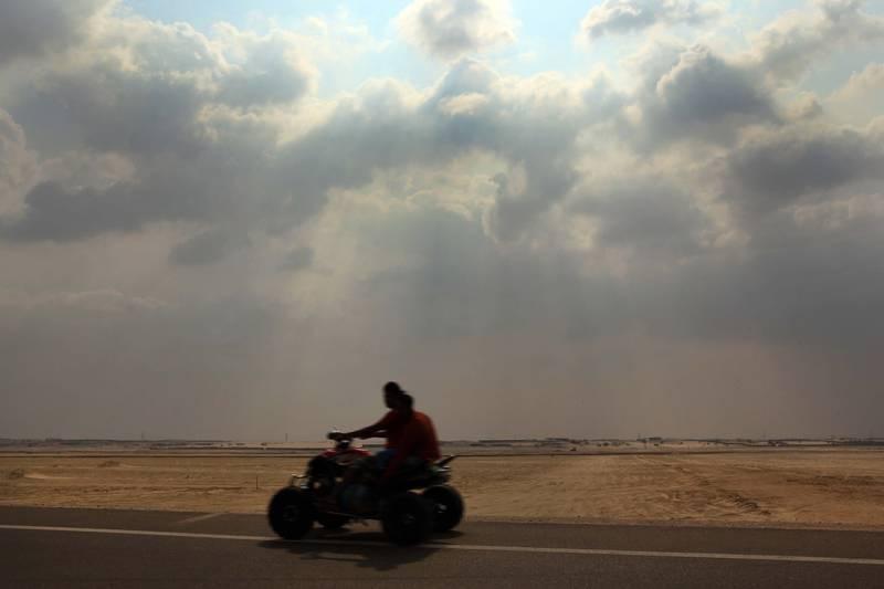 ABU DHABI - 21NOV2010 - Rain clouds scattered over Al Wathba area yesterday morning near Abu Dhabi. Ravindranath K / The National