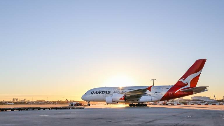 An image that illustrates this article Qantas to ban unvaccinated travellers on international flights