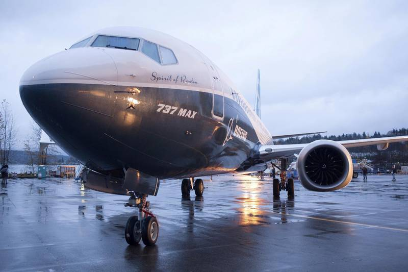 FILE PHOTO: A Boeing 737 MAX 8 sits outside the hangar during a media tour of the Boeing 737 MAX at the Boeing plant in Renton, Washington December 8, 2015. REUTERS/Matt Mills McKnight/File Photo