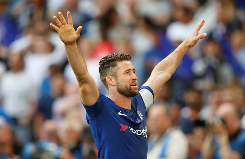 Soccer Football - FA Cup Final - Chelsea vs Manchester United - Wembley Stadium, London, Britain - May 19, 2018   Chelsea's Gary Cahill celebrates after winning the FA Cup final   REUTERS/Andrew Yates