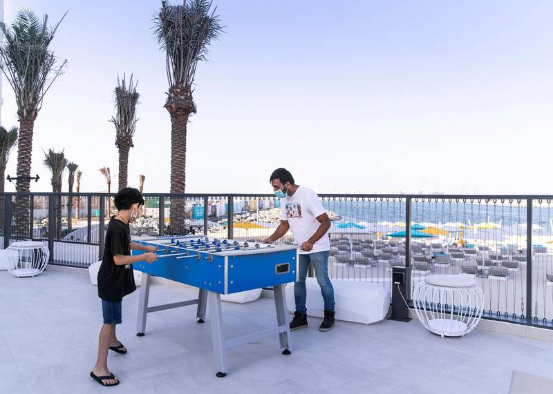 DUBAI, UNITED ARAB EMIRATES. 16 DECEMBER 2020. The newly opened Rove La Mer hotel.(Photo: Reem Mohammed/The National)Reporter:Section: