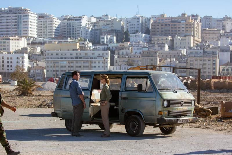 Rosamund Pike and Jon Hamm in Beirut. Courtesy High Wire IP, LLC