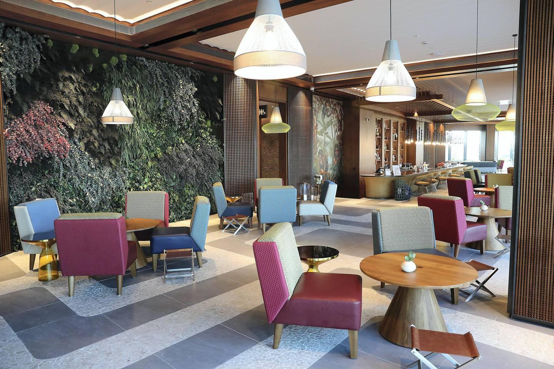 DUBAI, UNITED ARAB EMIRATES , December 24 – 2020 :-  View of the Li Brasil restaurant at the Address Beach Resort near Jumeirah Beach Residences in Dubai. ( Pawan Singh / The National ) For Lifestyle. Story by Janice