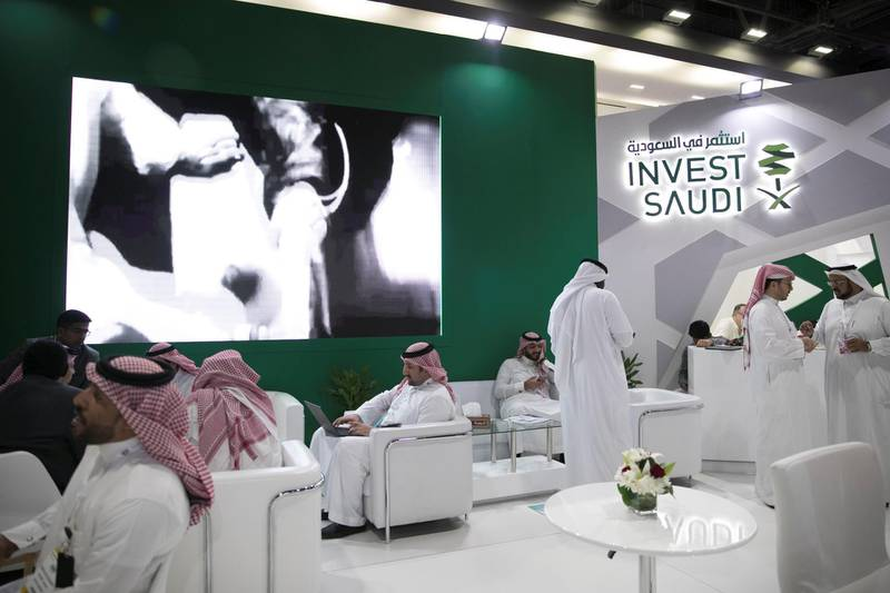 DUBAI, UNITED ARAB EMIRATES - JANUARY 28, 2019.INVEST SAUDI at Arab Health, one of the region's biggest healthcare conferences.(Photo by Reem Mohammed/The National)Reporter: ANAMSection:  NA