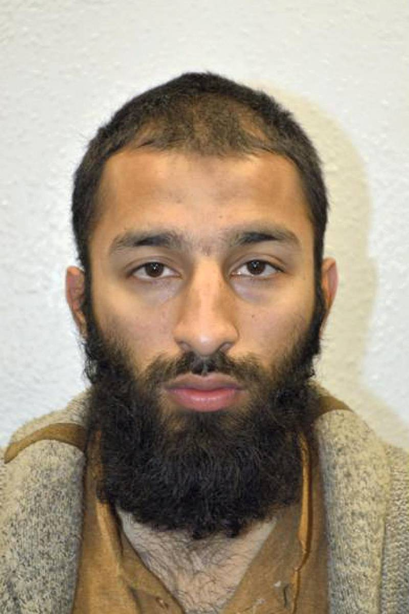 """An undated handout picture released by the British Metropolitan Police Service in London on June 5, 2017 shows Khuram Shazad Butt from Barking, east London, believed by police to be one of the three attackers in the June 3 terror attack on London Bridge.  / AFP PHOTO / METROPOLITAN POLICE / Handout / RESTRICTED TO EDITORIAL USE - MANDATORY CREDIT """"AFP PHOTO / METROPOLITAN POLICE"""" - NO MARKETING NO ADVERTISING CAMPAIGNS - DISTRIBUTED AS A SERVICE TO CLIENTS"""