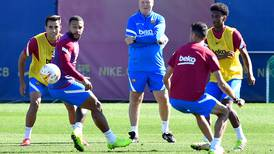 Memphis Depay, Ansu Fati and Sergio Busquets train with Barcelona - in pictures