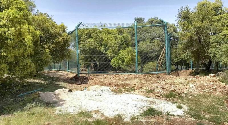 An enclosure at the Al Mawa Wildlife Reserve. Amy McConaghy / The National