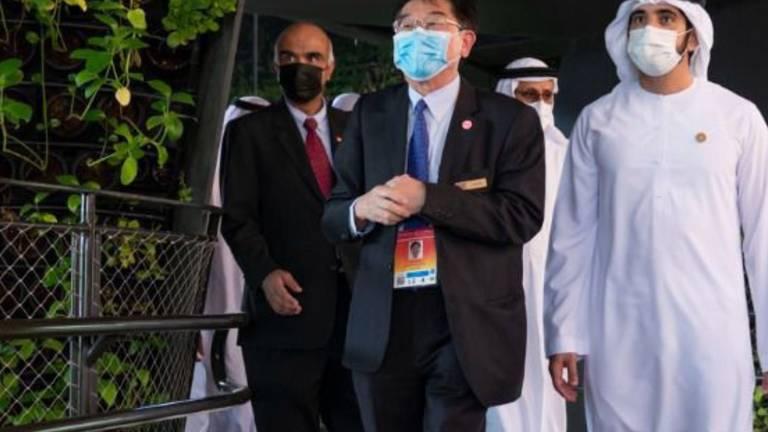 An image that illustrates this article Sheikh Hamdan tours pavilions at Expo 2020 Dubai