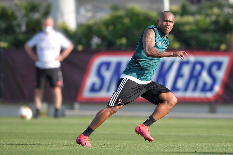 TURIN, ITALY - MAY 25: Juventus player Douglas Costa during a training session at JTC on May 25, 2020 in Turin, Italy. (Photo by Daniele Badolato - Juventus FC/Juventus FC via Getty Images)