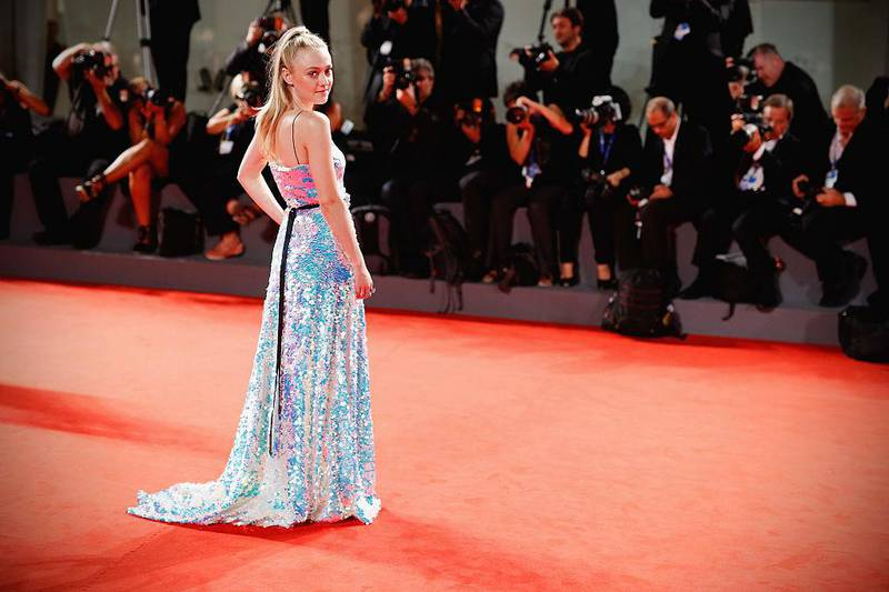 VENICE, ITALY - SEPTEMBER 03:  Actress Dakota Fanning attends the premiere of 'Brimstone' during the 73rd Venice Film Festival at Sala Grande on September 3, 2016 in Venice, Italy.  (Photo by Andreas Rentz/Getty Images)