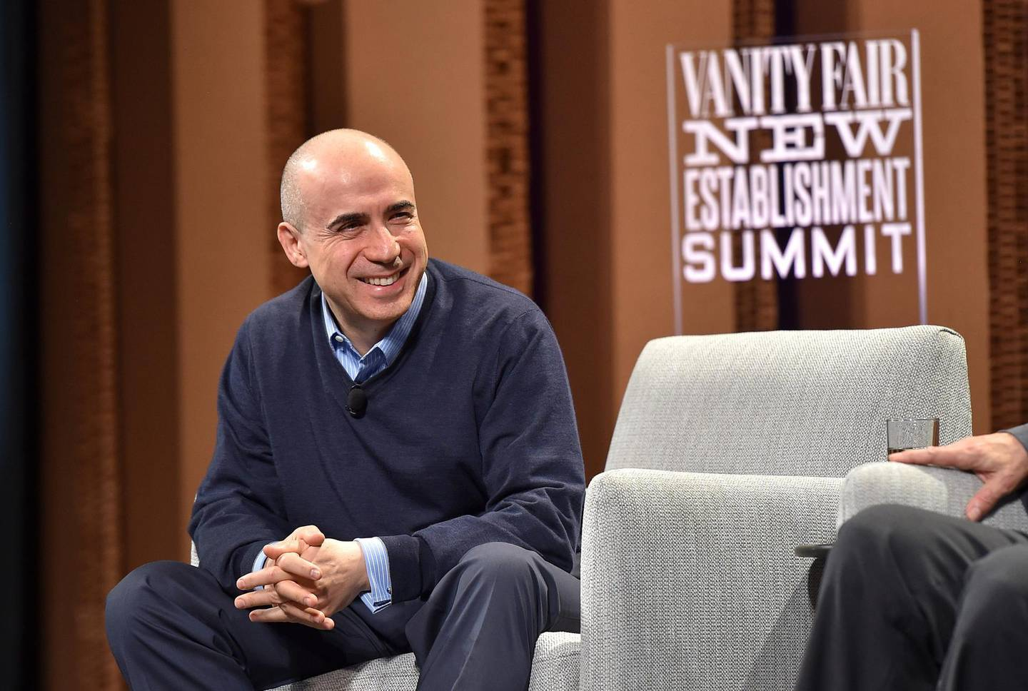 """SAN FRANCISCO, CA - OCTOBER 07:  DST Global Founder Yuri Milner speaks onstage during """"Are We Alone in the Universe?"""" at the Vanity Fair New Establishment Summit at Yerba Buena Center for the Arts on October 7, 2015 in San Francisco, California.  (Photo by Mike Windle/Getty Images for Vanity Fair)"""