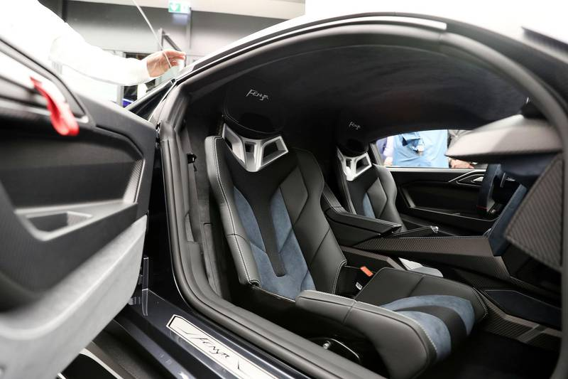 DUBAI , UNITED ARAB EMIRATES , NOV 29  – 2017 :- Interiors of the Fenyr Super Sport car during the opening of  W Motors at the City Walk 2 Boulevard in Dubai (Pawan Singh / The National) Story by Adam Workman