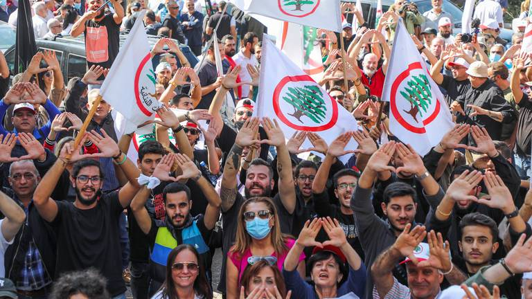 An image that illustrates this article Lebanese Forces leader fails to appear in military court
