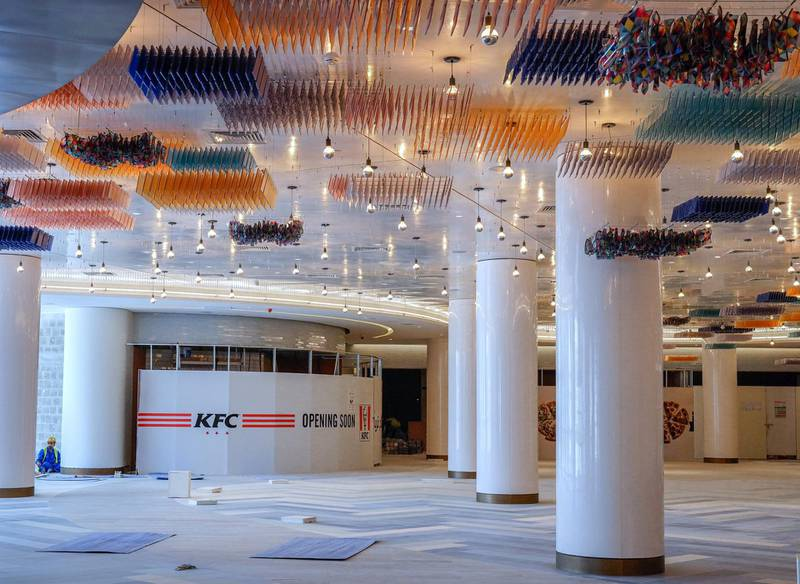 Abu Dhabi, United Arab Emirates, July 25, 2019. Exclusive tour of new expansion of Galleria, Abu Dhabi.   The foddcourt area.Victor Besa/The NationalSection:  IFReporter:  Panna Munyal