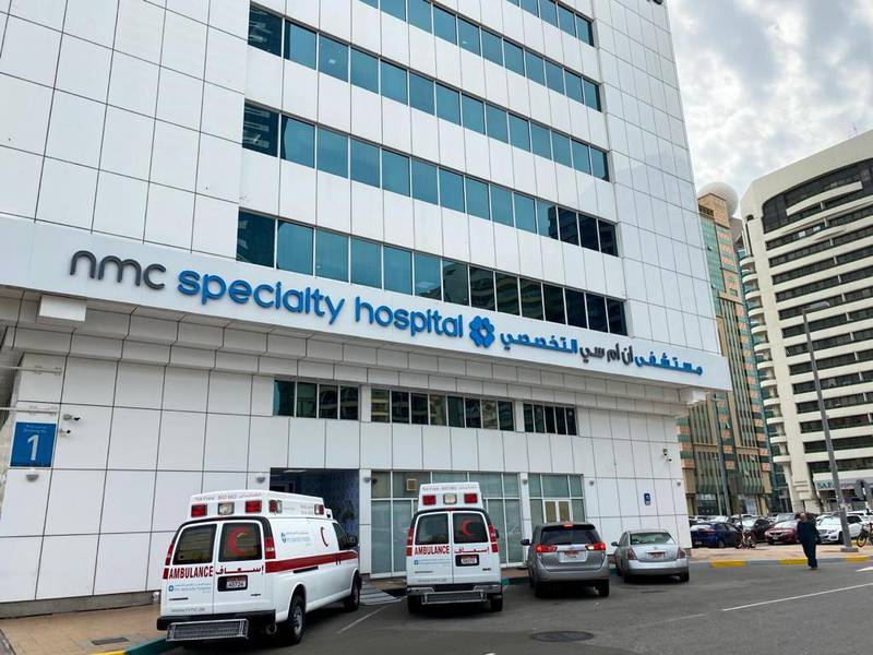 FILE PHOTO: General view of NMC specialty hospital in Abu Dhabi, United Arab Emirates, February 11, 2020. REUTERS/Satish Kumar/File Photo