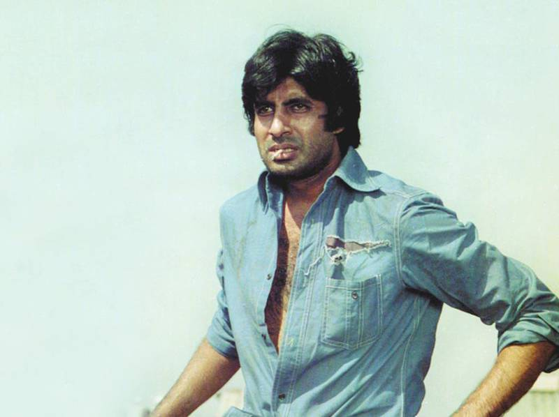 Editorial use only. No book cover usage.Mandatory Credit: Photo by Sippy/Kobal/Shutterstock (5871367a)Amitabh BachchanSholay - 1975Director: Ramesh SippySippy FilmsINDIAScene Still