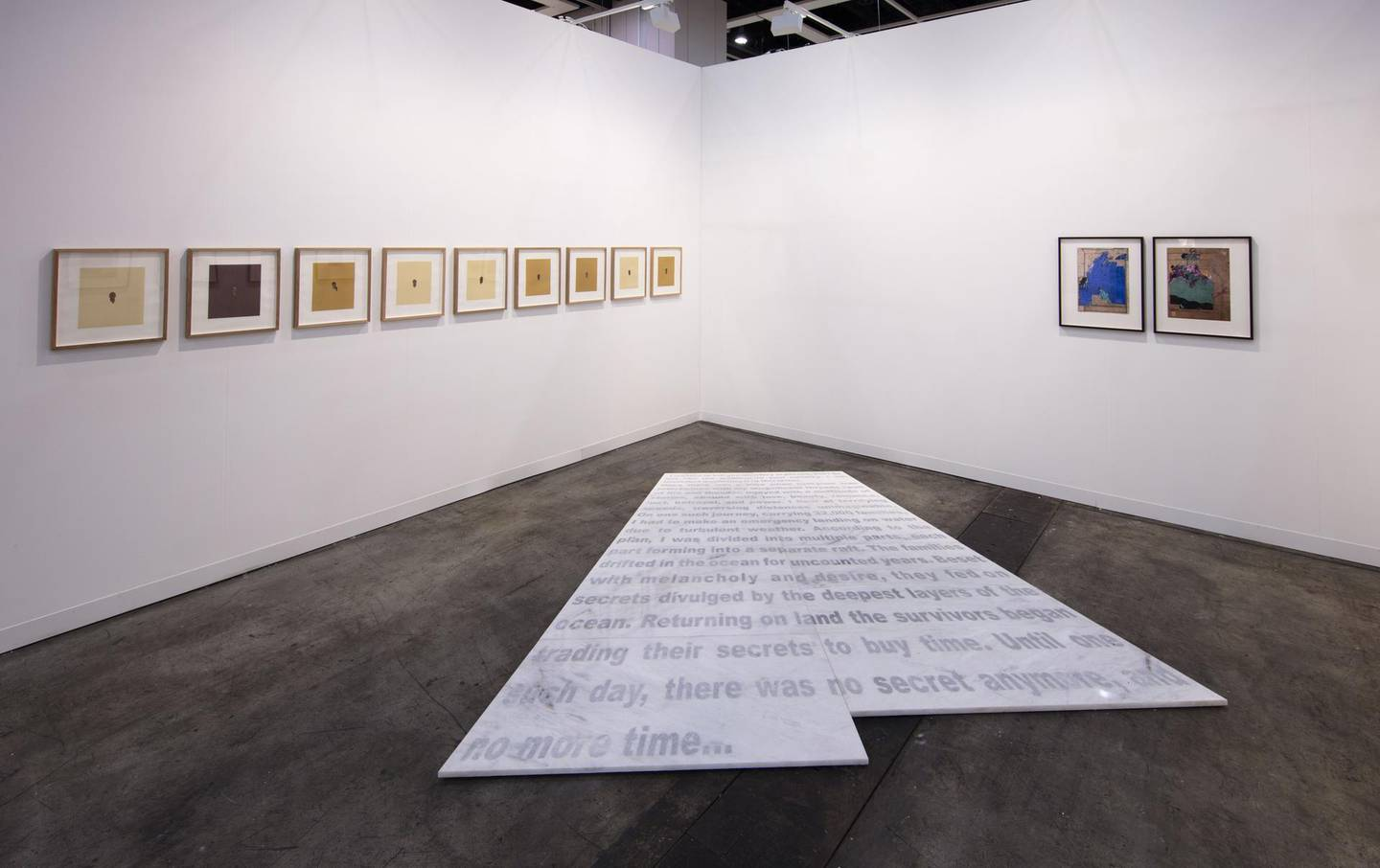 Installation view of Lawrie Shabibi's booth in the Insights sector of Art Basel Hong Kong 2017. Courtesy Lawrie Shabibi and the artists. Photography by Kitmin Lee.. *** Local Caption ***  al27mr-lawrie shabibi8.jpg