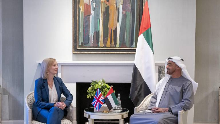An image that illustrates this article Sheikh Mohamed bin Zayed and UK foreign secretary review accelerating ties