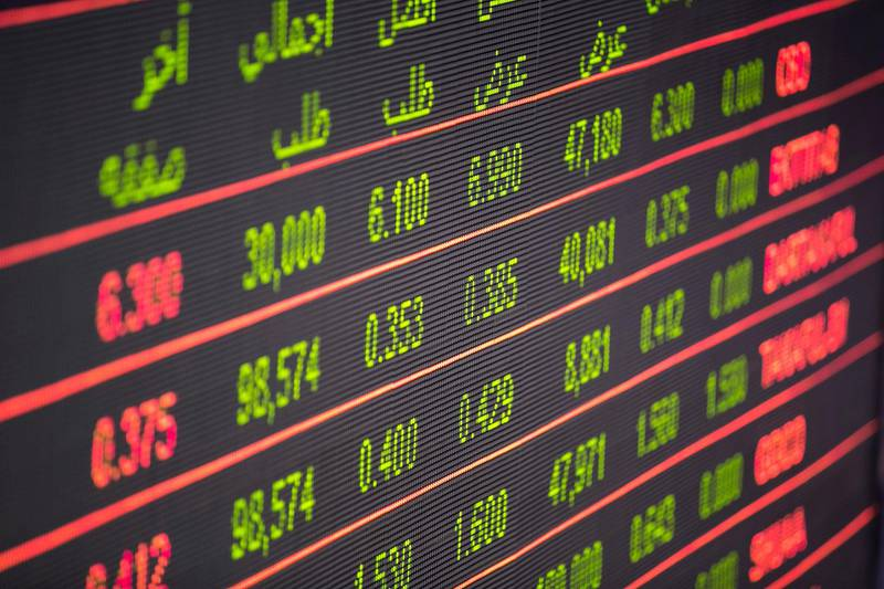 DUBAI, UNITED ARAB EMIRATES, Jan 6, 2016.  Stock prices at Dubai Financial Market today. The stock market internationally has been going downhill Chinese bourses dropped 2.7 per cent.Photo: Reem Mohammed/ The National (Section: BZ) Job ID: 40492 *** Local Caption ***  RM_20160106_DFM_12.JPG