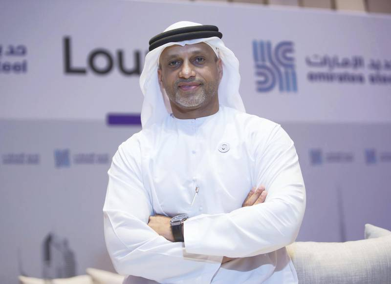 DUBAI, UNITED ARAB EMIRATES - Saeed Ghumran Al Remeithi, CEO Emirates Steel at Middle East Iron and Steel, Grand Hyatt Hotel.  Leslie Pableo for The National for Jennifer Ghana's story
