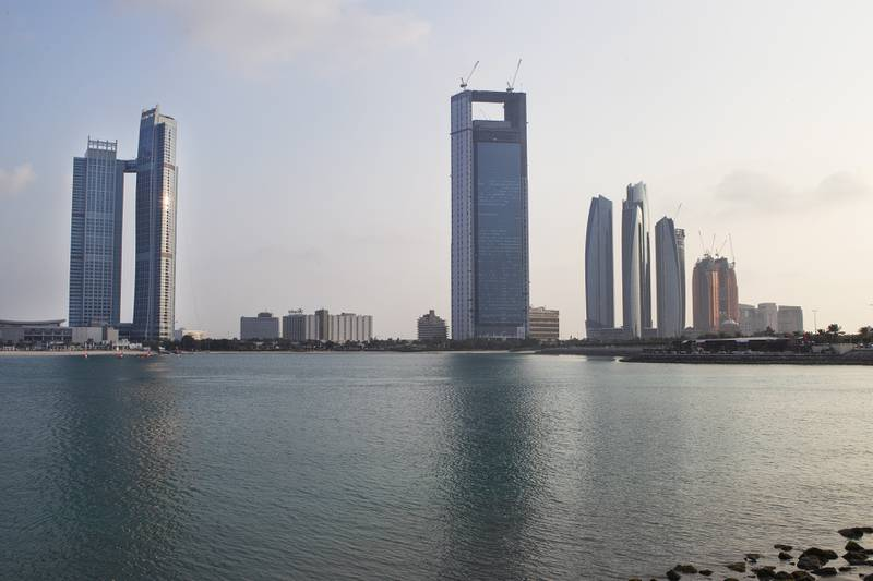 Abu Dhabi, United Arab Emirates. January 13, 2014///  Skyline of Abu Dhabi.  Mona Al-Marzooqi/ The National   Section: Weekend