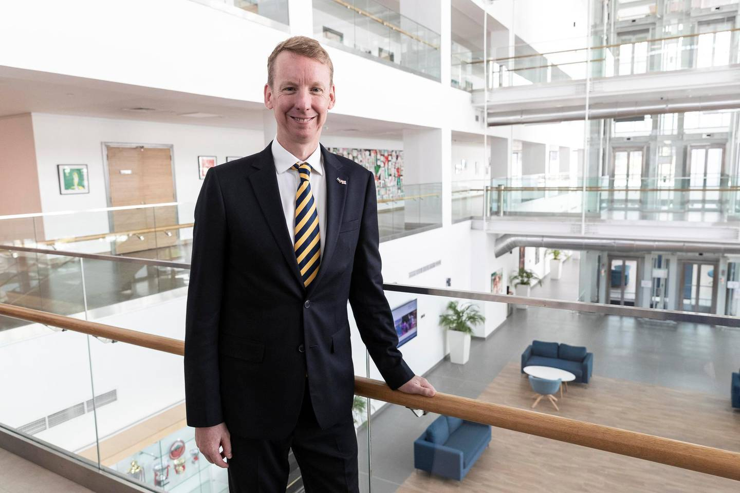 DUBAI, UNITED ARAB EMIRATES. 14 OCTOBER 2019. North London Collegiate School, one of Dubai's most expensive schools is expanding after the school's population has grown from 250 to 800 in two years. Principal James Monaghan. (Photo: Antonie Robertson/The National) Journalist: Anam Rizvi. Section: National.
