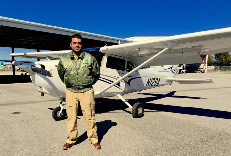 Provided photo of Pakistani pilot Fakhr e AlamFor a story by Amna in the national section Courtesy Fakhr e Alam *** Local Caption ***  IMG_1158.JPG