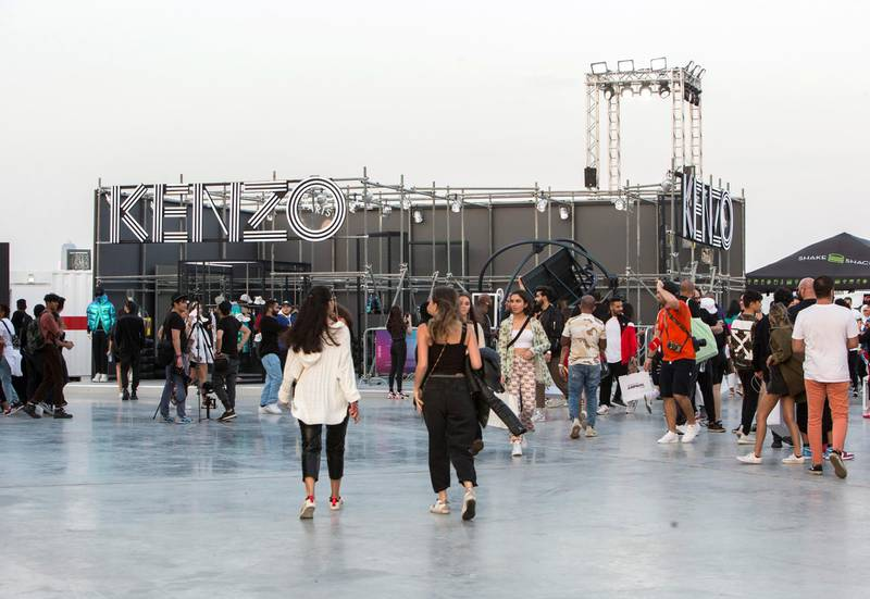 Dubai, United Arab Emirates-  Crowd at the Sole Dubai Festival at D3.  Leslie Pableo for The National for Saeed Saeed's story