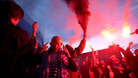 Leicester City's first FA Cup triumph sparks flares and parties in the streets - in pictures