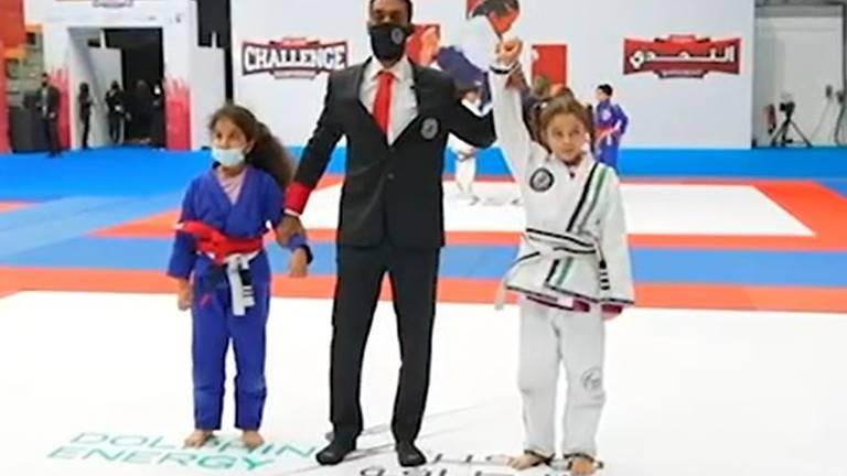 An image that illustrates this article Sheikh Khaled bin Mohamed meets UAE's jiu-jitsu stars