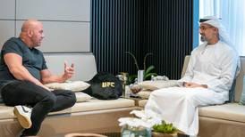 Sheikh Khalid bin Mohamed meets UFC president Dana White to discuss success of 'Return to Fight Island'