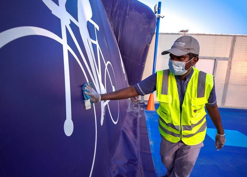 Abu Dhabi, United Arab Emirates, November 8, 2020.   The new Hudayriyat Leisure and Entertainment District at Hudayriyat Island.  The Hudayriyat Courts area.Victor Besa/The NationalSection:  NAReporter:  Haneen Dajani