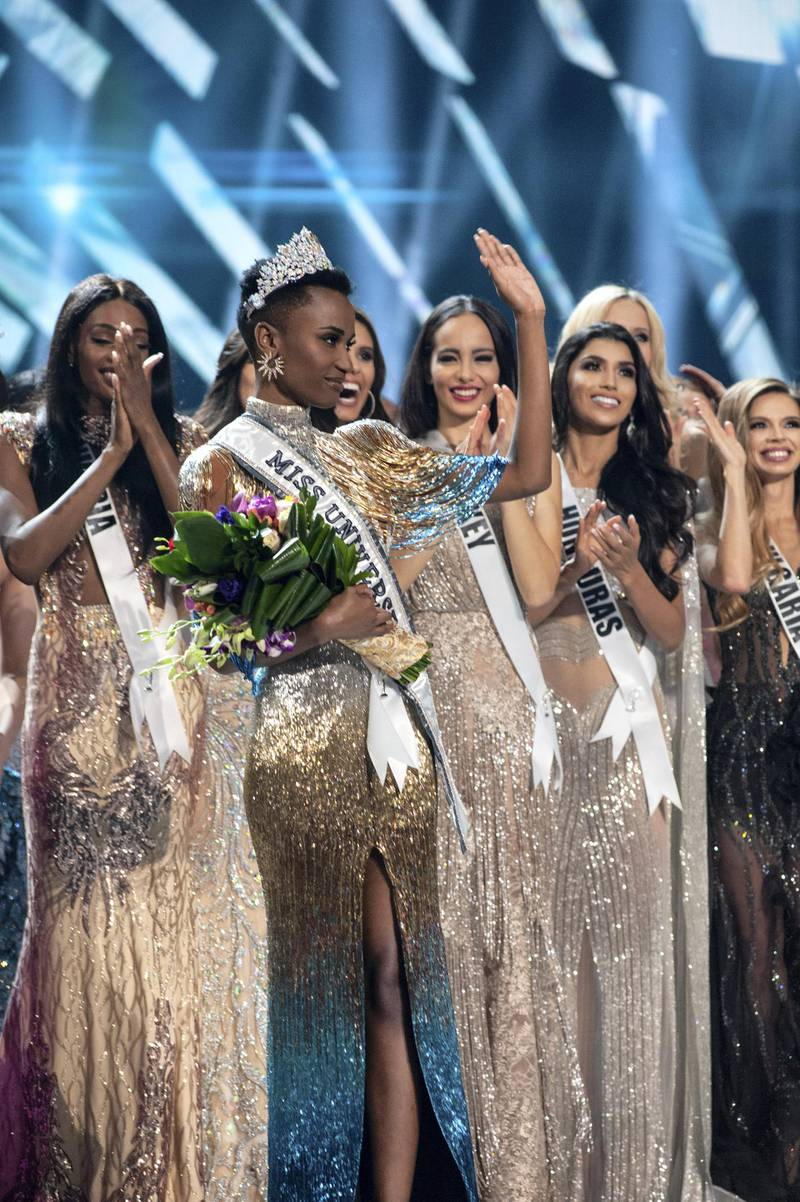 Zozibini Tunzi, Miss South Africa 2019 is crowned Miss Universe at the conclusion of The MISS UNIVERSE® Competition on FOX at 7:00 PM ET on Sunday, December 8, 2019 live from Tyler Perry Studios in Atlanta. The new winner will move to New York City where she will live during her reign and become a spokesperson for various causes alongside The Miss Universe Organization. HO/The Miss Universe Organization