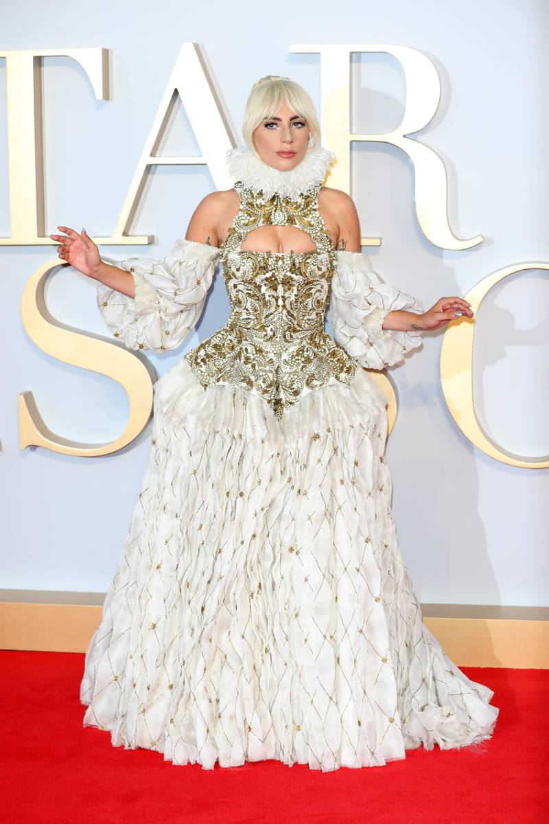 LONDON, ENGLAND - SEPTEMBER 27:  Lady Gaga attends the UK premiere of 'A Star Is Born' held at Vue West End on September 27, 2018 in London, England.  (Photo by Tim P. Whitby/Getty Images)