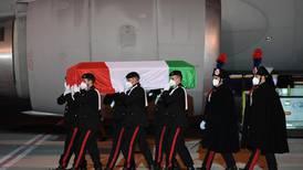 Body of Italian ambassador killed in Congo returned to Rome