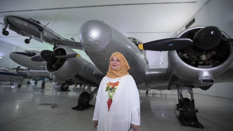 An image that illustrates this article Female aviation pioneer recalls life above the clouds in Sharjah