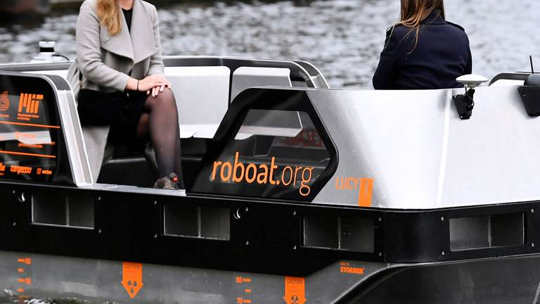 An image that illustrates this article Self-driving 'Roboats' tested on Amsterdam's canals