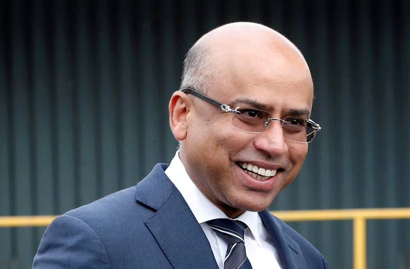 FILE PHOTO: Liberty Steel's Sanjeev Gupta smiles outside the company's Liberty Steel processing mill in Dalzell, Scotland, Britain April 8, 2016. REUTERS/Russell Cheyne/File Photo