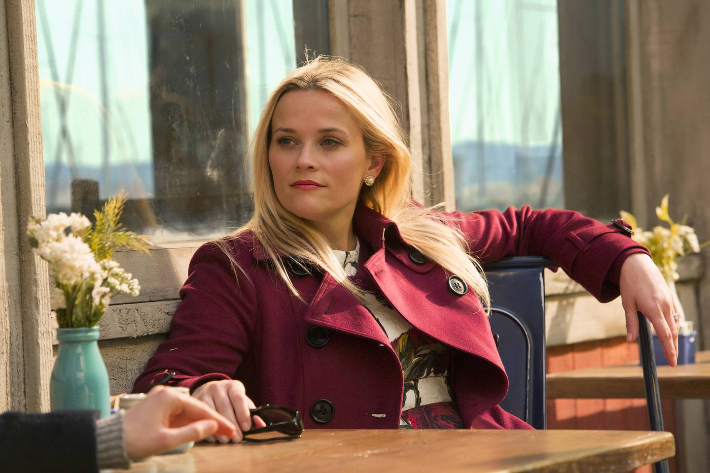 """This image released by HBO shows Reese Witherspoon in """"Big Little Lies."""" The program is nominated for an Emmy Award for outstanding limited series.  The Emmy Awards ceremony, will air on Sept. 17. (Hilary Bronwyn Gayle/HBO via AP)"""