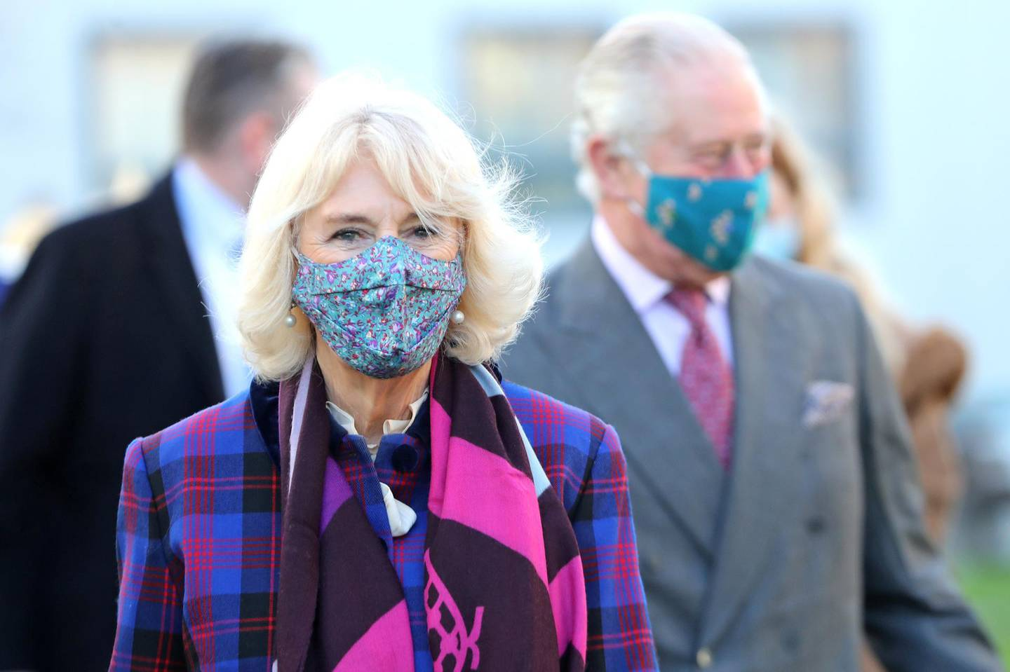 Britain's Prince Charles, Prince of Wales and Camilla, Duchess of Cornwall visit a vaccination centre at Gloucestershire Royal Hospital, in Gloucester, Britain December 17, 2020. Chris Jackson/Pool via REUTERS