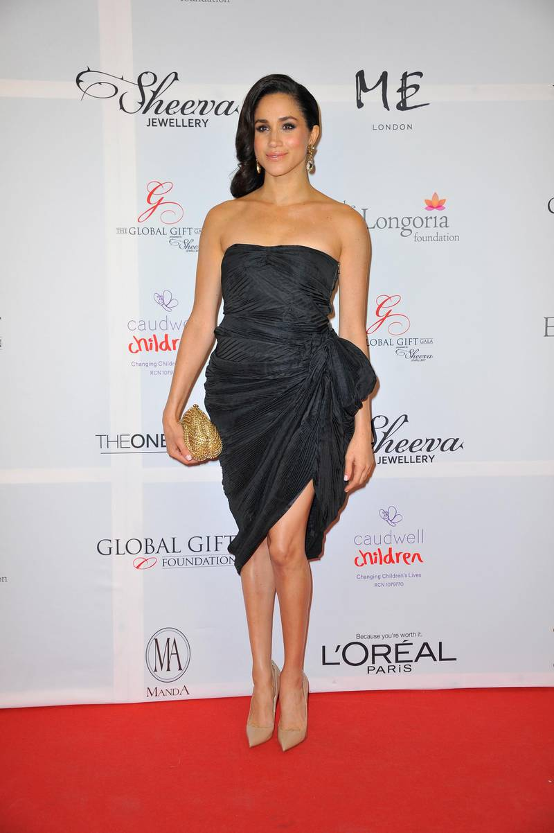 LONDON, ENGLAND - NOVEMBER 19:  Meghan Markle attends the London Global Gift Gala at ME Hotel on November 19, 2013 in London, England.  (Photo by Gareth Cattermole/Getty Images)