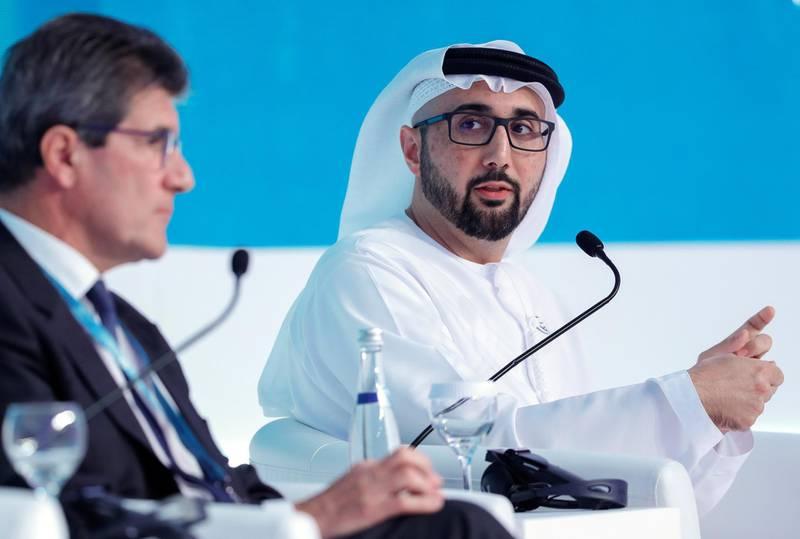 Abu Dhabi, United Arab Emirates, January 15, 2020.  World Future Energy Summit 2020, Abu Dhabi.--Dr. Tariq Bin Hendi, DirectorGeneral, Abu Dhabi Investment Office, UAEVictor Besa / The NationalSection:  BZReporter:  Nada El Sawy