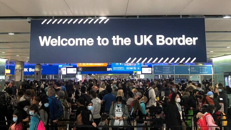 An image that illustrates this article Heathrow urges UK to change travel rules as passenger numbers slump