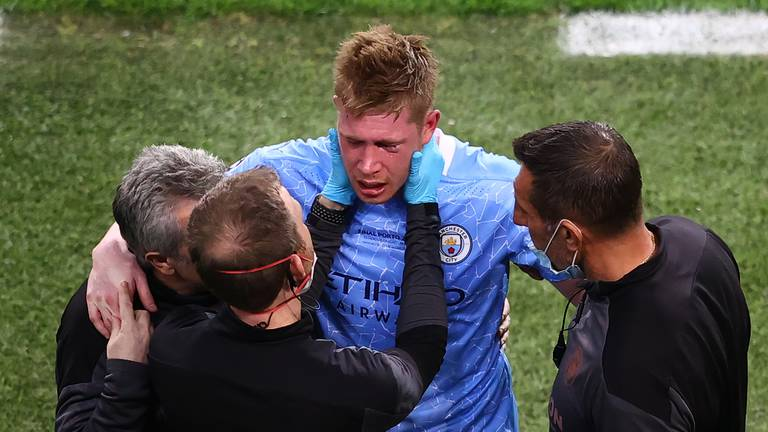 An image that illustrates this article De Bruyne remembers little of City's painful Euro final defeat