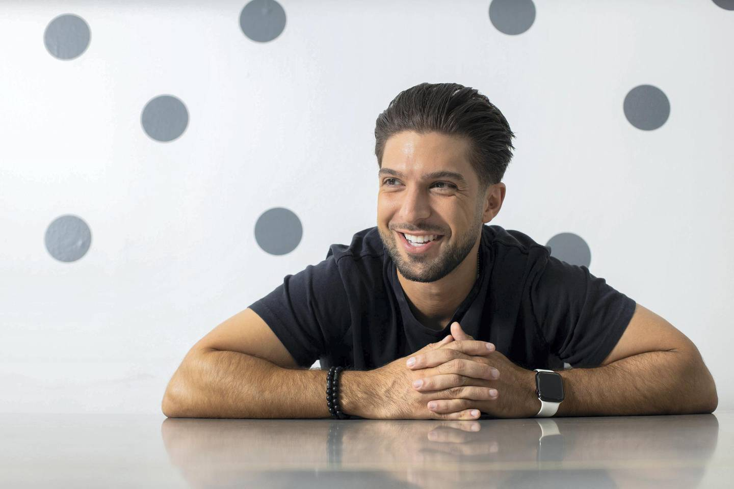 CyrusAlavi is the co-founder of NuWater, a sustainable water business aimed atreducing plastic use. He is part of a feature on Covid-era start-ups. Grace Guino for The National