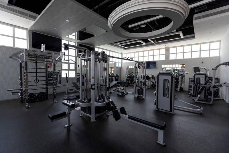 Sharjah, United Arab Emirates - Reporter: N/A. Sport. The new gym at Sharjah cricket stadium. Wednesday, June 24th, 2020. Sharjah. Chris Whiteoak / The National