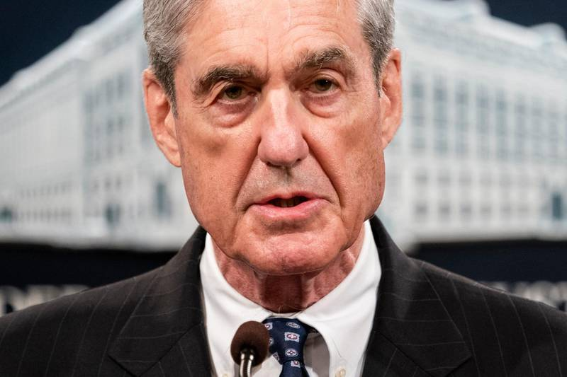 epa07610518 Special Counsel Robert Mueller speaks to the media about the results of the Russia investigation at the Justice Department in Washington, DC, USA, 29 May 2019. It is the first time Mueller has spoken publicly on the 674 days long investigation.  EPA/JIM LO SCALZO