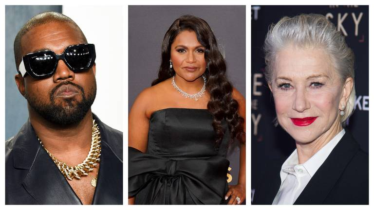 An image that illustrates this article 16 celebrities who have changed their names: from Ye to Mindy Kaling